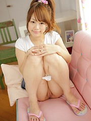 Cute girl from Japan Saeko Takamura loves her smooth hole