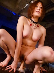 Ruri Haruka Asian fingers her fish taco and rides fake penis