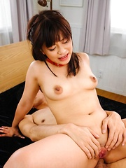 Aika Hoshino Asian takes cocks in mouth and has asshole pumped
