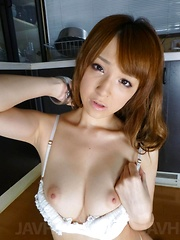 Hikaru Shiina Asian licks vibrator and enjoys it on her clitoris