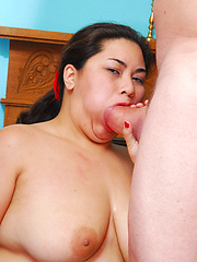 Big chunky chinese girl gives up the big booty!